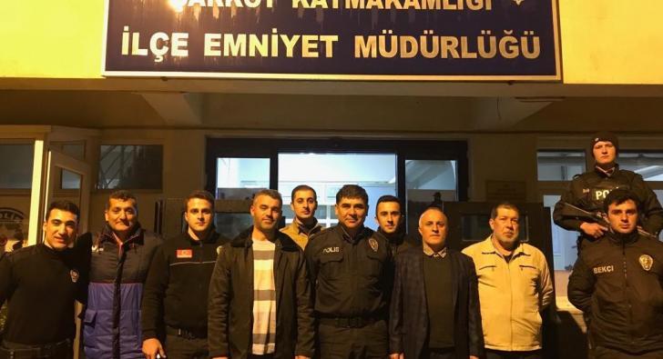 NÖBETTEKİ POLİSLERE ZİYARET