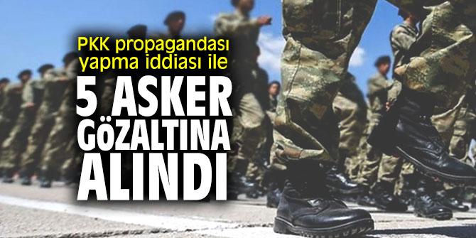 TEKİRDAĞ'DA 5 ASKERE PKK GÖZALTISI