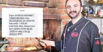 KAPALI RESTORANTA FATURA GELDİ