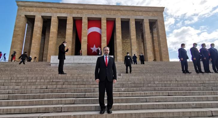 YEL ANKARA'DAKİ KUTLAMA TÖRENLERİNE KATILDI