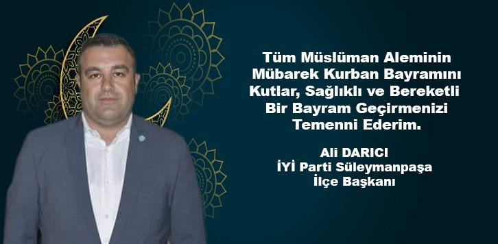 ALİ DARICI'DAN BAYRAM MESAJI