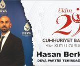 HASAN BERK ÇEBİ'DEN CUMHURİYET KUTLAMASI